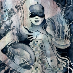 'Redemption' by Kelly McKernan. Watercolor. Limited edition print.