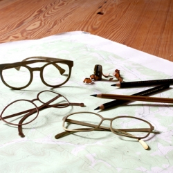 Jennifer Tran's eyewear prototypes are made of brass and copper.
