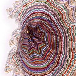 Jen Stark's 'Sunken Sediment' installation images at Carol Jazzar's gallery.