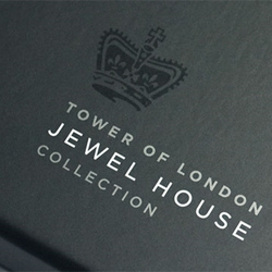 Gorgeous packaging for the Tower of London's Jewel House Collection from Aukett Brockliss Guy.