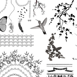 Giia has a nice roundup of temp tattoo jewelry ~ love the black and whites...