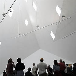 The Contemporary Jewish Museum by Daniel Libeskind opened this Sunday. Interiors full of light and shaped corners.