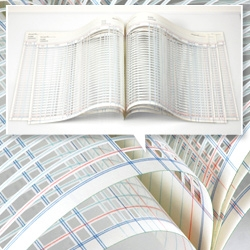 Impressive work by Jill Sylvia turning balance sheets into intricate hand-cut paper art pieces.