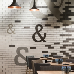Jimbo & Rex is an eatery within the Crown Complex in Melbourne, Australia. It exudes a playful, warm atmosphere over a large floor plate, adjacent to a retail precinct.