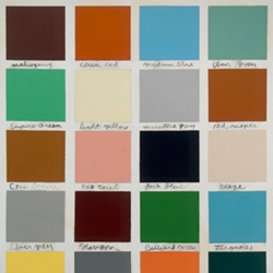 """A great article """"examining the influence of color in the institutions of art and fashion Spring 2008..."""" The feature looks to MOMA's Color Chart exhibition for inspiration."""
