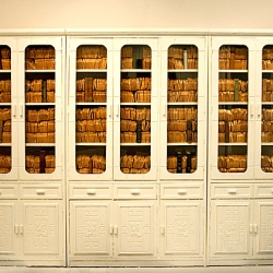 Artist John Kirchner uses his art as a means to bring attention to the material things our society holds reverence to. He takes Classic ideas and bastardizes them by implementing imagery of modern lifestyle such as the bookcase filled with wonder bread ...