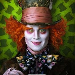 Tim Burton's re-imagining of Alice in Wonderland, starring Johnny Depp as the mad hatter, Helena Bonham Carter as the red queen, and more... including Mia Wasikowska as Alice
