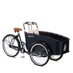 The green way to transport your precious in style. The Johnny Loco Cargo cruiser.