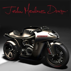 The Metalback - Slick bullet like Motorcycle concept design by Jordan Meadows