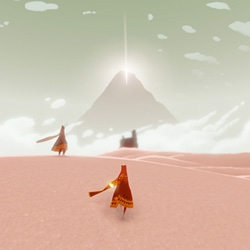 Journey for PS3 launches today from TGC (thatgamecompany), the company that brought you Flow and Flower, and they continue to show how stunning a simple and beautiful game can be.