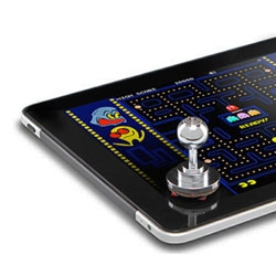 JOSSTICK-IT Tabley Arcade Stickadds a real physical joystick to your tablet, giving you more precision in touchscreen games. The removeable instant joystick can be removed and repositioned.