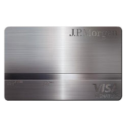 A peek at the JP Morgan Palladium Card benefits... it's minted out of palladium and 23k gold and laser engraved with cardholder info