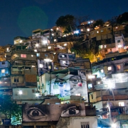 French artist JR has produced this  inspiring public art projectin the favelas of rio beautiful, and sad at the same time...it's hard to look at them in the eyes...