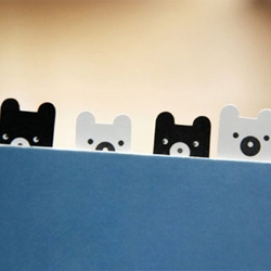 you've gotta love these clever organizer tabs from korea's j'story. the collection includes bears, funny faces and everyone's favorite - ninja bunnies. goodbye post-its!