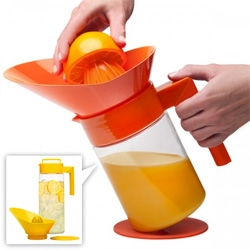 Takeya's Orange Juicer and Flash Chill Lemonade Makers are nice and simple containers that let you juice right into them with the swappable screw top lids!