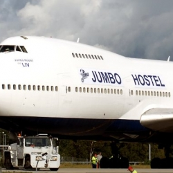 Jumbo Hostel: an aging 747 transformed into a low-cost, fully-furnished hostel that is perfect for overnight accommodation.