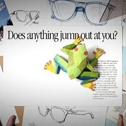 Oakley's Heritage Flipbook - fun video, playful animations!