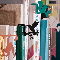 Jungle Bookmarks ~ that also help you pull books out of your bookshelf. Designed by DCell in Korea.