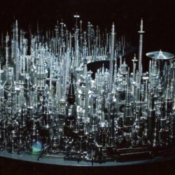 Incredible city made of polished junk by a Japanese artist.