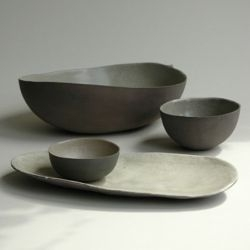 less is more -- elegant lightweight clay tableware from jurgen lehl.