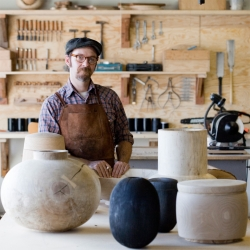 Meet Joshua Vogel, a wood sculptor, master craftsman and founder of Blackcreek Mercantile & Trading Co.