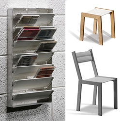 Kulla Design in Israel has a series of products based on reusing plastic shutters that have been thrown away without any recycling solution.