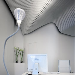 White wave celing from M.MAS.A Architects for Konstruplus office, in Spain