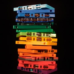 Cassettes + Rainbow = Double Retro Whammy. Matt Whitwell for L'Affiche Moderne. Limited edition.