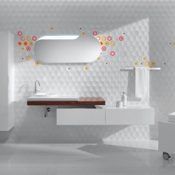 An innovative and playful alternative to bland walls. Cube & Dot by Tamer Nakisci will bring creative life to any space.