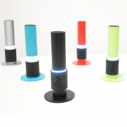 R-Cube Kaleido Torch - It can function as both a LED torch and a night-light. The user can decide how bright he wants it to shine by sliding the middle handle up and down.
