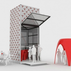 KamerMaker, large scale, mobile 3D printer to print architecture 'on demand', unveiled by Dutch architecture firm, DUS.