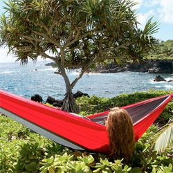 The KAMMOK, a new light-weight camping hammock.