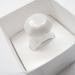 crownless ring by kandura keramik Indonesia - white glazed porcelain, designed by nuri fatima