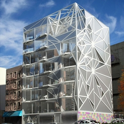 Designer Karim Rashid's latest creation: an 8-story apartment building for New York's East Harlem neighborhood.