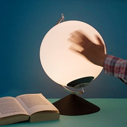 Dynamic (hand powered) Lamp by Karin Johansson