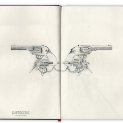 Brooklyn-based illustrator Karolina Rojas showcases super-refined sketches in the PISTOLERA series.