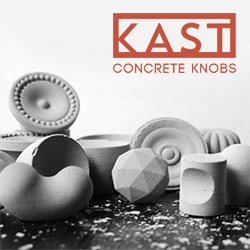 Kast Concrete Knobs and Drawer Pulls
