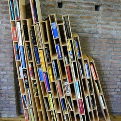 Extended Cab, a great bookshelf idea by dutch designers at Sloom & Slordig. Add as much piles as you want to.