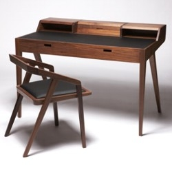 The Katakana writing / laptop desk designed by Sean Dare for Dare Studio won the award for best furniture, interior or lighting product last week at the 6th Hidden Art Design awards.