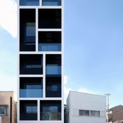 impressive apartment in katayama by mitsutomo matsunami - 10 units in a really really small lot