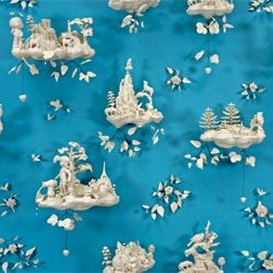 Beth Katleman's Folly, porcelain wallpaper, at the Jane Hartsook Gallery in New York.