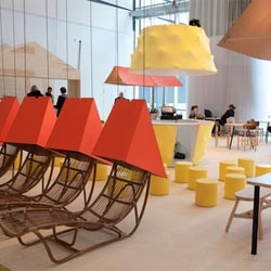 The Design Bar and VIP Lounge at the Stockholm Furniture Fair, designed by Katrin Greiling.