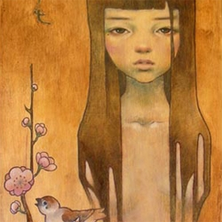 Audrey Kawasaki's work is simply amazing. It certainly instigates a rethinking of one's own talent. [Editor's Note: big feature on her at .com, but since i love her work, ok'd this repeat]
