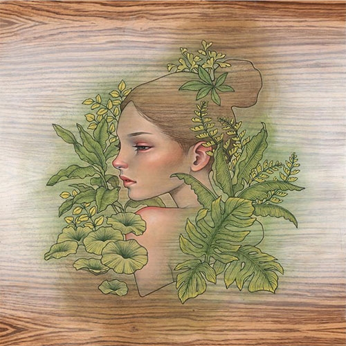 "Audrey Kawasaki ""Repose"" Print Edition of 500 will be available at Thinkspace on Friday Nov 24th."
