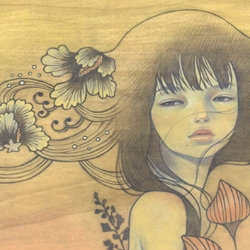Audrey Kawasaki's website has undergone a pretty redesign. I can't wait until this new painting does a print run!