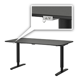 IKEA Bekant desk range is replacing the Galant system and includes an electronic Sit/Stand base with buttons to adjust the height.