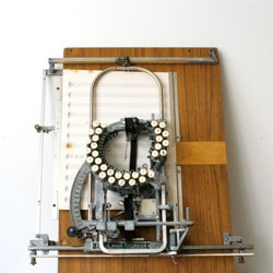 A typewriter for music? Beautiful Keaton Music Typewriter.