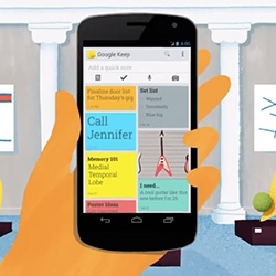 Google Keep - from notes to pictures to voice memos to to do lists, it's a fun colorful, simple little app!