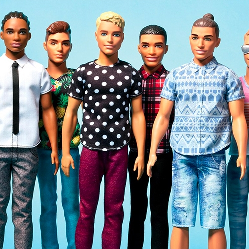 It's a whole new generation of Barbie's Ken Dolls... from man buns to cornrows to various glasses, heights, and builds. GQ has a great story that takes you behind the scenes.