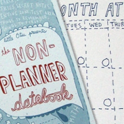 Little Otsu's non-planner datebook for the semi-organized people. Sure, you could create one yourself, but someone else's scribbles are always more fun.